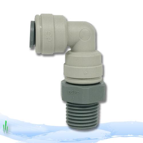 "RO Unit Water Filters John Guest 1//4/"" x 1//4/"" BSPT Swivel Elbow PI09082S"