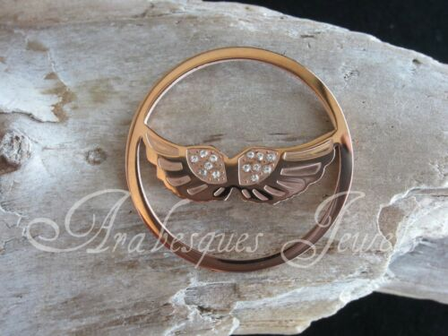 1x LARGE COIN//MONEDA ANGEL WINGS FOR GENUINE MI MILANO NECKLACE//PENDANT//KEEPER