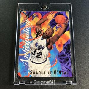 SHAQUILLE-O-039-NEAL-SHAQ-1995-FLAIR-7-ANTICIPATION-EMBOSSED-FOIL-INSERT-CARD-NBA