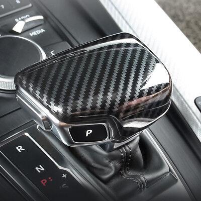 1x Carbon fiber Interior front dashboard frame cover trim For Audi Q7 2016-2018