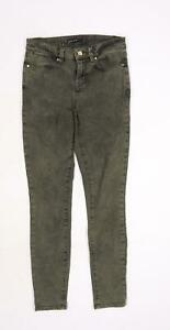 Karen Millen Womens Green  Denim Skinny Jeans Size 8 L28 in