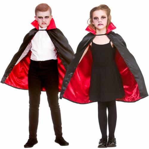 Kids Super Deluxe Vampire Cape Halloween Déguisement Robe Cape Garçons Filles