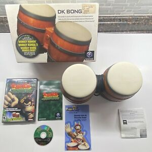 Nintendo Gamecube DK Bongos w/ Original Box & Donkey Kong Jungle Beat (READ DESC