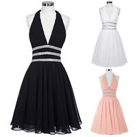 Mini Sexy Bridesmaid Masquerade Ball Gowns Evening Party Formal Short Prom Dress