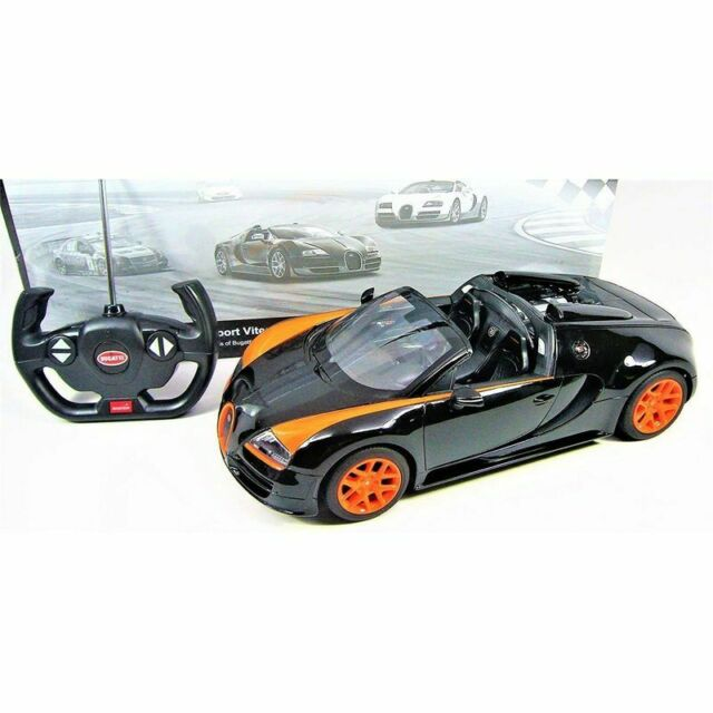 Bugatti Veyron Super Sport Black Orange: 1:14 Scale RC Bugatti Veyron Grand Sport Vitesse Car Black