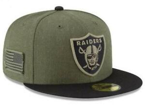 finest selection official photos popular stores Official 2018 Oakland Raiders New Era NFL Salute Service 59FIFTY ...