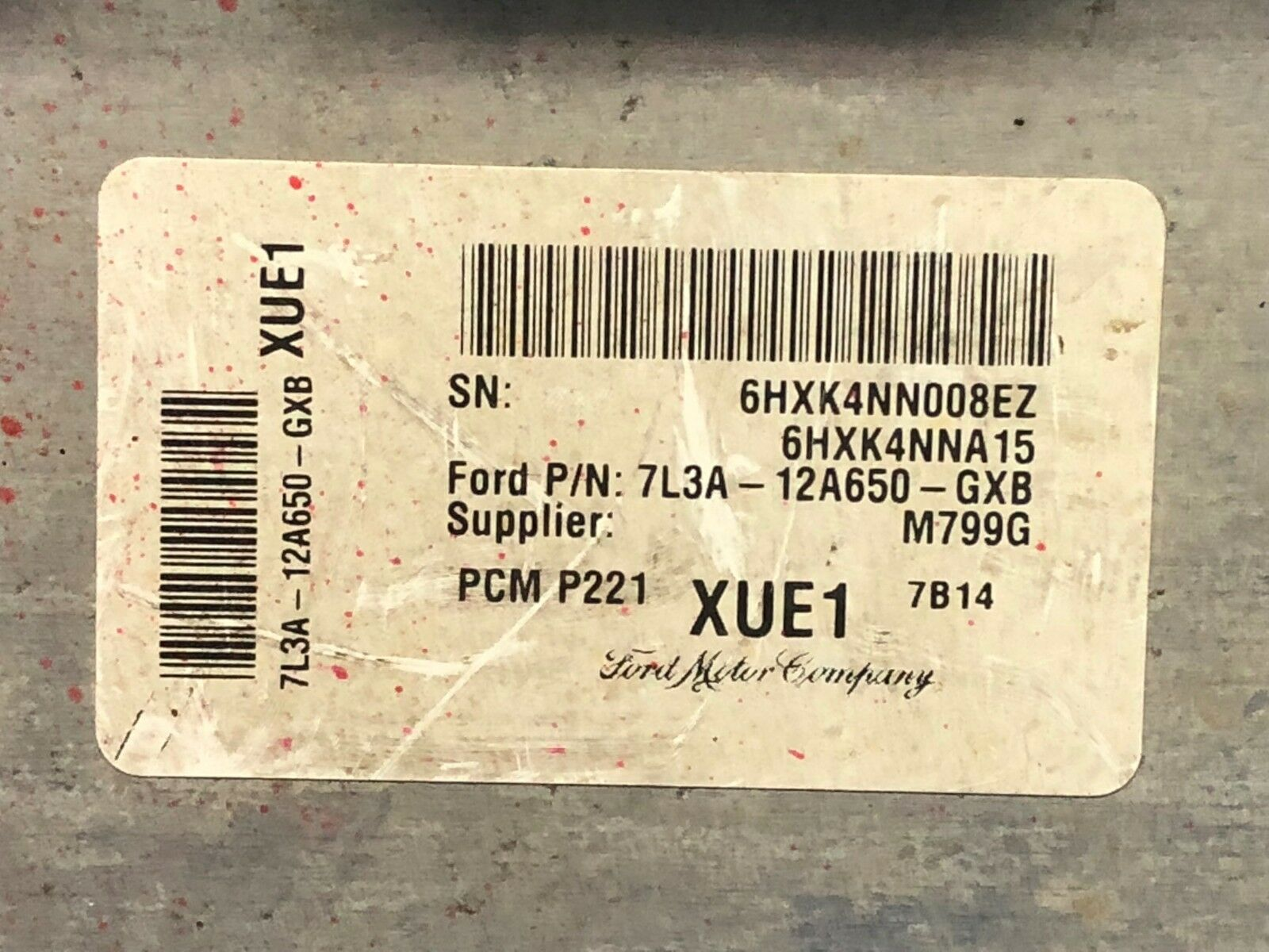 Engine Computer Programmed with Keys 2008 Ford Truck 7L3A-12A650-GXB XUE1 PCM