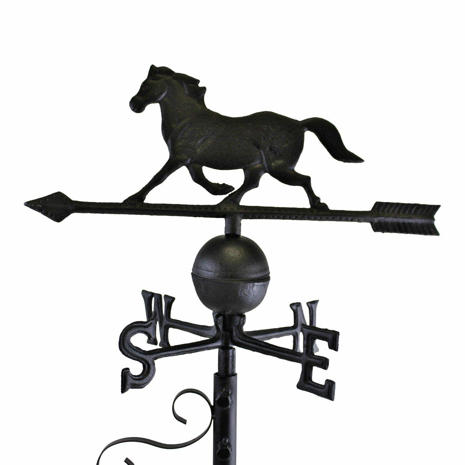 Horse Design Cast Iron Large Black Mountable Weathervane - Equestrian