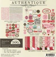 Love Valentines Day Scrapbooking Paper Crafting Card Making Kit Authentique