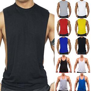 Men-Stringer-Bodybuilding-Tank-Top-Shirts-Muscle-Sleeveless-T-Shirt-Vest-Singlet