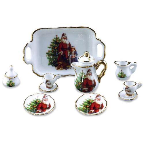 Reutter porzellan kaffeeset Noël//coffee set Christmas poupée 1:12