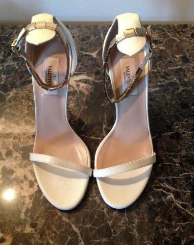 Sandals Valentino Metallic Size New Studs And It38 Leather I7Bwq8p