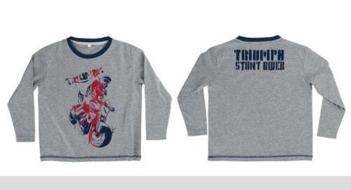 Original triumph Kinder Junior Stunt Team T Shirt Neu mit Etikett 50/%OFF