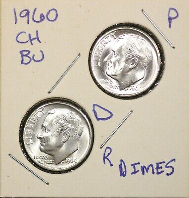 1960-D Denver Mint Roosevelt Dime Silver from BU roll