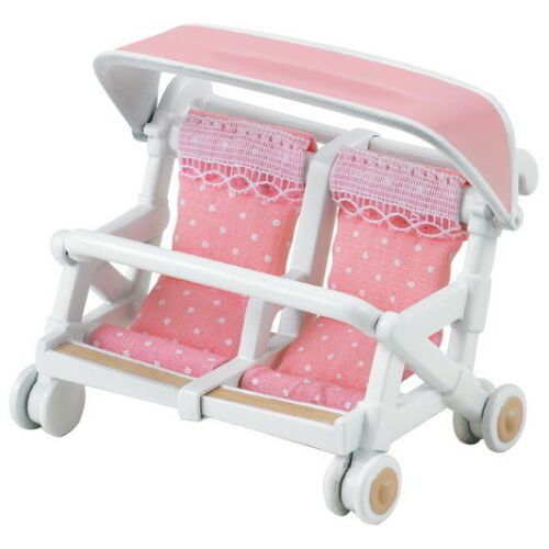 Calico Critters Sylvanian Families Sylvanian Family Double Baby Buggy Carriage