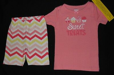 NWT Gymboree Girls Gymmies Sweet Treats Shorties Pajamas 18-24 2T 3 /& 7
