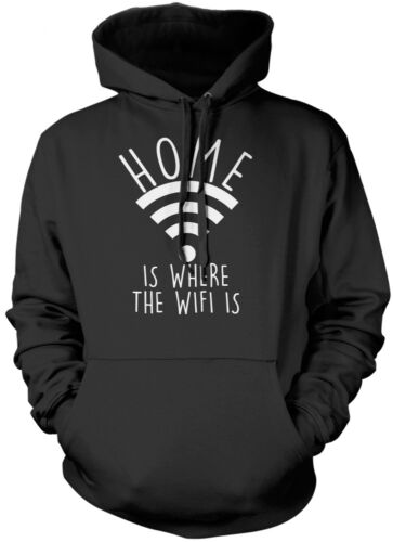 Funny Teen Tumblr Kids Unisex Hoodie Home Is Where The Wifi Is