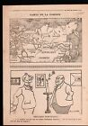 WWI Map Carte Sibérie Siberia Russia Russie China Chine Iran 1918 ILLUSTRATION