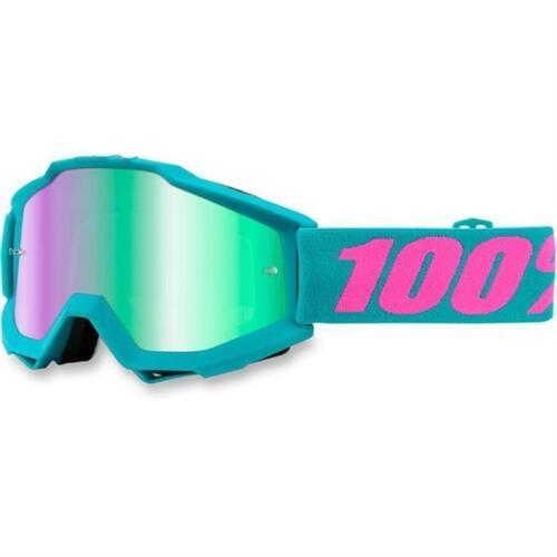 100/% motocross Lunettes MX-Accuri-Passion-Vert verspiegeltes verre