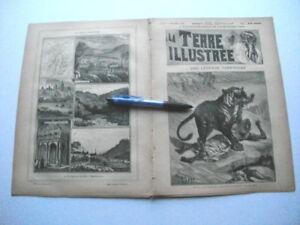 RARE-034-La-Terre-Illustree-034-no-37-1891-voyages-Tonkin-CARTE-hemisphere-Jura