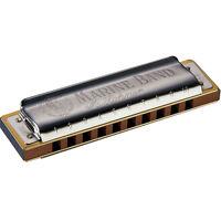 Hohner Marine Band Harmonica Diatonic 1896bx Blues Harp Key Of F F Sharp Gb on sale