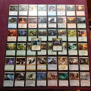 Lot-de-50-rares-en-francais-symbol-dore-MTG-Magic-the-gathering
