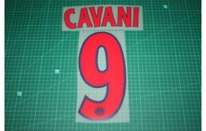 Flocage CAVANI n°9 rouge PSG  patch shirt Paris Saint Germain maillot ligue