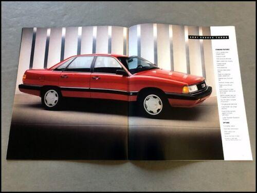 1988 Audi 24-page Car Sales Brochure Catalog 80 Quattro 90 5000 5000CS Turbo