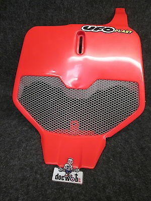 NEW UFO red universal vented front number plate super evo CR/YZ/RM/KX UFO010