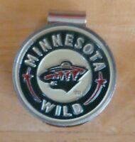 "Minnesota Wild 1"" Golf Ball Marker 2 Sided & hat clip ~ NHL Licensed"
