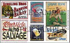 LARGE SHEET O SCALE WEATHERED FADED BUILDING SIGN DECALS #50