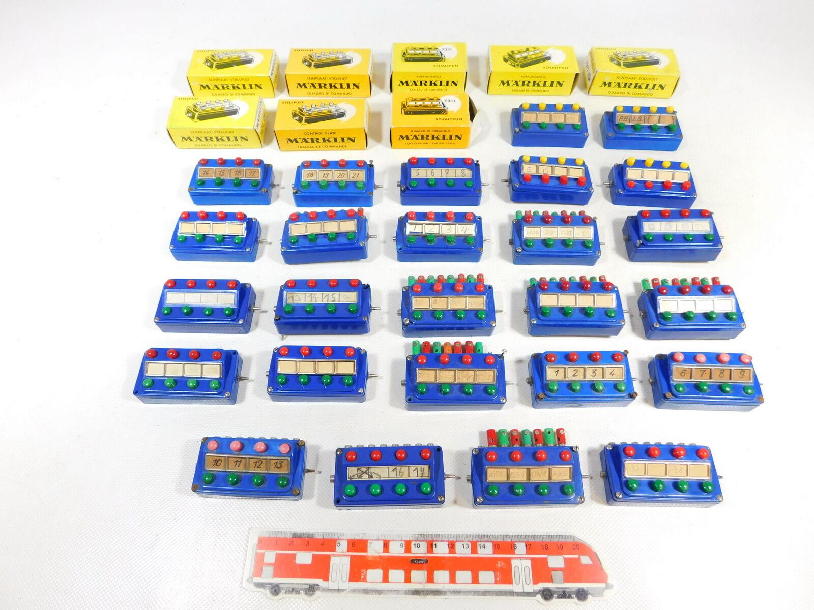 Cd857-2  26x Märklin h0 etc metti comandi quadro comandi  70725+7210+7211, +8x difettoso OVP
