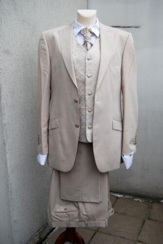 Pantaloni da Stripey cerimonia da righe uomo a Beige beige con righe da 50 Digel uomo SaqrESn74