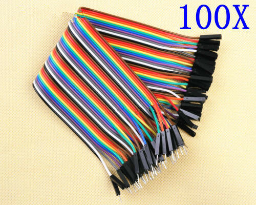 100pcs 2.54mm Male to Female Dupont Wire Jumper Cable 1P-1P 20cm
