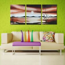 3pcs Unframed Desert Sunset Canvas Print Painting Picture Home Art Wall Decor