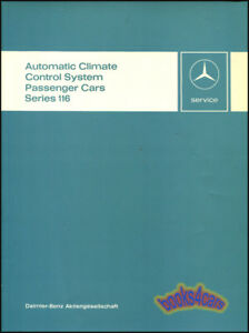 Details about MERCEDES SHOP SERVICE REPAIR MANUAL 116 AIR CONDITIONING  CLIMATE CONTROL BOOK