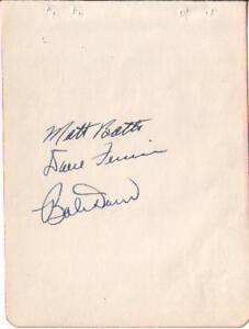 1947 Boston Red Sox X3 Autographed Vintage Album Page Bobby Doerr+