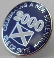 Isle of Skye 2000 Millenium Crest Small Pin Badge (0626)