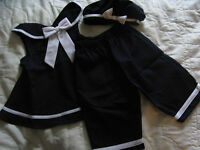 NWOT/EUC 24M 3pc Rare Editions Navy/White Sailor Outfit Washed Never Worn