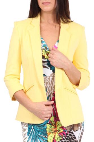 Women/'s Ladies Girls Celeb Inspired Tailored Blazer Collar Jacket Coat UK 8-16