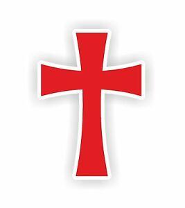 christian symbol cross red catholic protestant vinyl