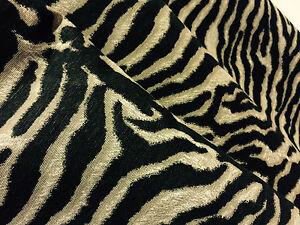 ZEBRA Stripe Animal Print Designer Fabric Curtain Upholstery Material 140cm wide