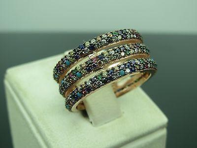 Turkish Handmade Hurrem Sultan 925 Sterling Silver Zircon Ladies' Ring Sz 8