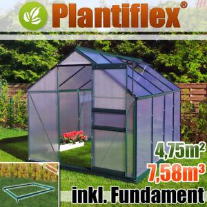 gew chshaus mit fundament garten pflanzenhaus aluminium treibhaus tomatenhaus ebay. Black Bedroom Furniture Sets. Home Design Ideas