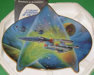 "STAR TREK INSIGNIA Plate Hamilton ""STARSHIP ENTERPRISE OF THE FUTURE"" Box w/COA"