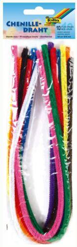 folia 77809 Pfeifenputzer 10 Stück sortiert in 10 Farben Chenilledraht