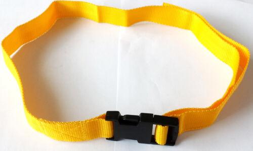 Child Yellow 25mm Polypropylene Webbing Belt Quick Release Buckle Age 4-7 TL24