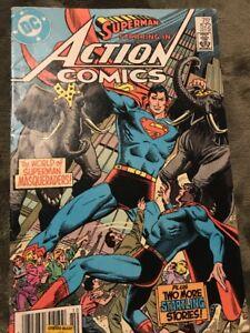 6d791fa88479 Image is loading SUPERMAN-in-ACTION-COMICS-572-1985-DC-COMICS