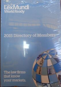 Details about Lex Mundi 2015 Directory of Members: Law Firms new paperback