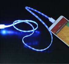 Micro USB Daten Ladekabel mit fließendem LED Licht Andoid Samsung HTC Sony LG